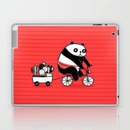 Cacti delivery. Panda on bicycle. Laptop & iPad Skin