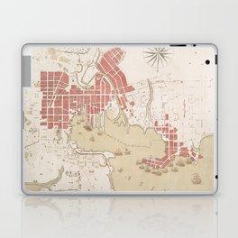 Vintage Map of Baltimore MD (1793) Laptop & iPad Skin