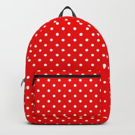 Red with white polka dots Backpack