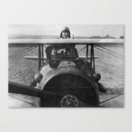 Eddie Rickenbacker - World War One - 1918 Canvas Print