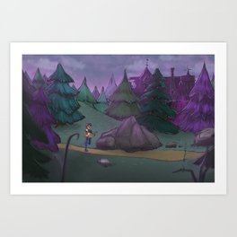 Getting Lost Art Print