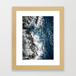 Skagerrak Coastline - Aerial Photography Framed Art Print