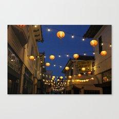 Chinatown Lanterns in L.A. Canvas Print