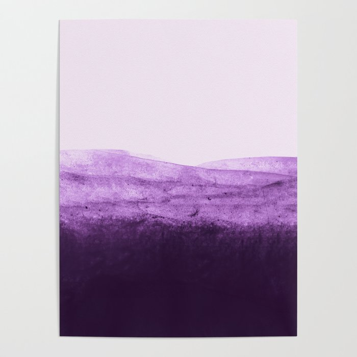 Amethyst Watercolor Crush Poster