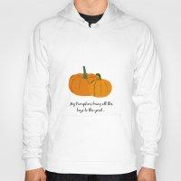 pumpkin Hoodies featuring Pumpkin by Laura Maria Designs