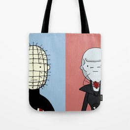 Adventure Time with Cenobites from Hellraiser Tote Bag