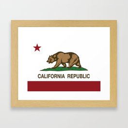 California Republic Flag Framed Art Print