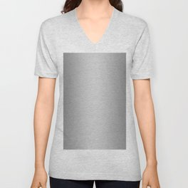 Gray to White Vertical Bilinear Gradient Unisex V-Neck