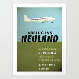 re:trospektive 1953: Abflug ins Neuland Art Print