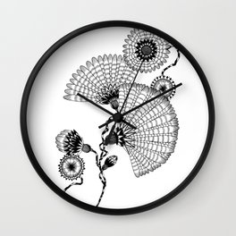 Daisies and Lines - 2 Wall Clock