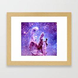 Galaxy Nebula : Pillars of creation Framed Art Print