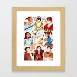 Team Avatar Framed Art Print