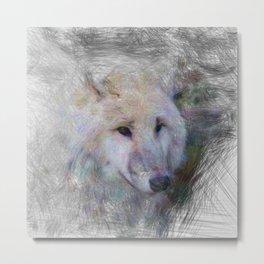 Artistic Animal Wolf Metal Print