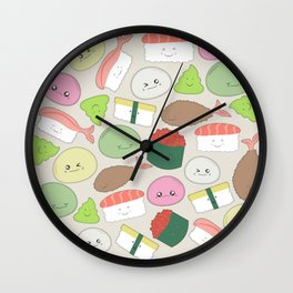 Sushi and Mochi! Wall Clock