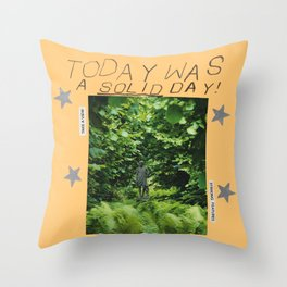 a solid day Throw Pillow
