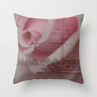 return Throw Pillows featuring Return Safely by Mark Alder