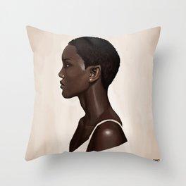 Elf Portrait Throw Pillow