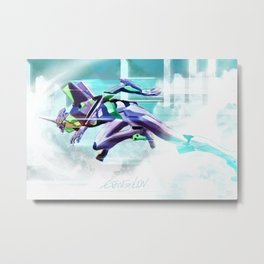 Evangelion Unit 01 - Shinji Ikari's Ride. The Digital Painting. Metal Print