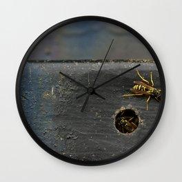 Yellow Jackets Wall Clock
