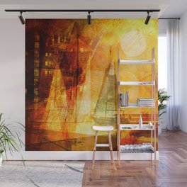 Coming home to harbour Wall Mural