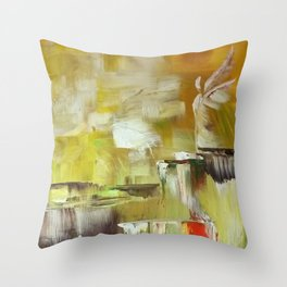 Angel of Joy-Live While You Live Throw Pillow
