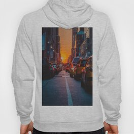 New York City Taxi Sunset (Color) Hoody