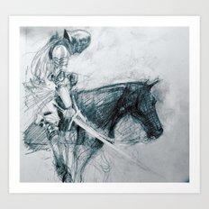 Knight : Early Concept Sketch (KIN film) Art Print