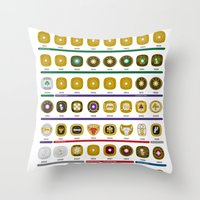 nba Throw Pillows featuring NBA Championship Rings by Hoop Dream Ink