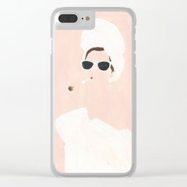 Beauty routine Clear iPhone Case