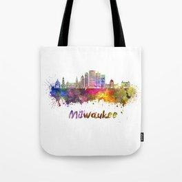 Milwaukee V2  skyline in watercolor Tote Bag