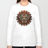 tooth Long Sleeve T-shirts featuring Saber Tooth by Zandonai