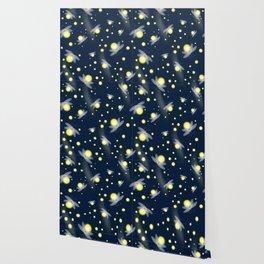 Fireflies at Night Wallpaper