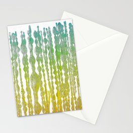 psychedelic stripes - green Stationery Cards
