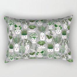 Face Vase Rectangular Pillow