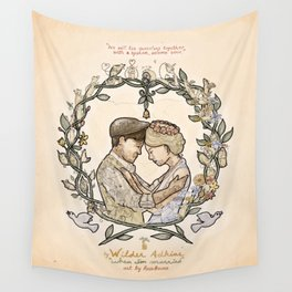 """Illustration from the video of the song by Wilder Adkins, """"When I'm Married"""" Wall Tapestry"""
