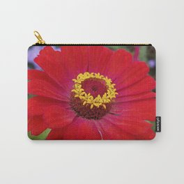 Red zinnia - blazing ring of fire Carry-All Pouch