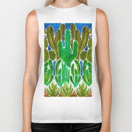 Cactus and Succulents Biker Tank