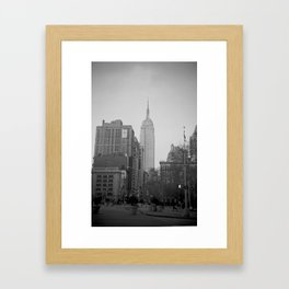 The Empire State Building and Madison Square Park Framed Art Print