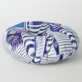 9244-KMA_5206 Sexy Blue Striped Nude Bending Down Looking Back Floor Pillow