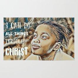 Black Girl Can Do All Things Through Christ Rug