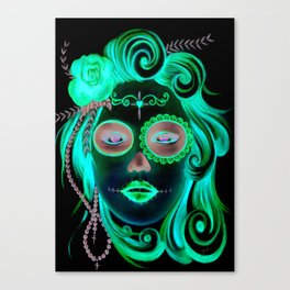 Day of the Dead | Red | by Jemka Canvas Print