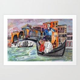 Lovers in Venice Art Print