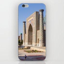 Registan square in Samarkand iPhone Skin