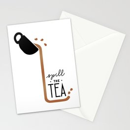 Spill the Tea - Basic Stationery Cards