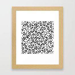 Pandamonium (Patterns Please) Framed Art Print