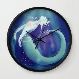 Pearl Mermaid Wall Clock