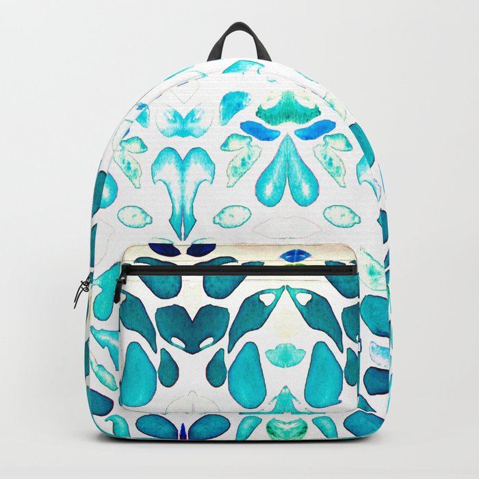 Memories of Summer, Bright Sea Blue and Yellow Backpack