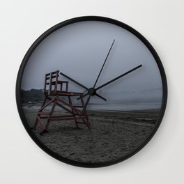 Niles Beach Foggy Evening Wall Clock