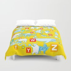 Yellow Alphabet Duvet Cover