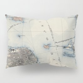 Vintage Map of San Francisco California (1914) Pillow Sham